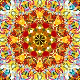 Digital Painting Abstract Colorful Floral Mandala Background royalty free stock images