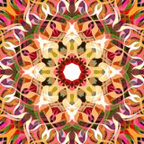 Digital Painting Abstract Colorful Floral Mandala Background Royalty Free Illustration