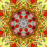 Digital Painting Abstract Colorful Floral Mandala Background royalty free stock photos