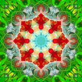 Digital Painting Abstract Colorful Floral Mandala Background stock photos