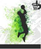 Digital illustration painting of a basketball player vector illustration