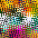 Digital Painting Beautiful Abstract Colorful Chaotic Rectangular Jigsaw Puzzles Pattern Background. Abstract Rectangular Jigsaw Puzzles Pattern in Multi-Colors royalty free illustration