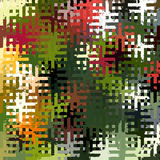 Digital Painting Beautiful Abstract Colorful Chaotic Rectangular Jigsaw Puzzles Pattern Background Stock Image
