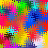 Digital Painting Beautiful Abstract Colorful Chaotic Rectangular Jigsaw Puzzles Pattern Background. Abstract Rectangular Jigsaw Puzzles Pattern in Multi-Colors Stock Image