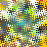 Digital Painting Beautiful Abstract Colorful Chaotic Rectangular Jigsaw Puzzles Pattern Background. Abstract Rectangular Jigsaw Puzzles Pattern in Multi-Colors Royalty Free Stock Photos
