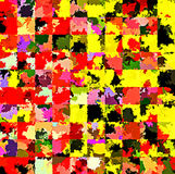 Digital Painting Beautiful Abstract Colorful Chaotic Rectangular Pattern Background. Abstract Rectangular Pattern in Multi-Colors Background Stock Photography