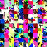 Digital Painting Beautiful Abstract Colorful Chaotic Rectangular Pattern Background. Abstract Rectangular Pattern in Multi-Colors Background Royalty Free Stock Photography