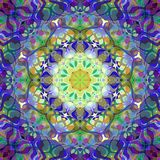 Digital Painting Abstract Colorful Floral Mandala Background Stock Image