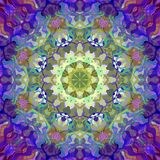Digital Painting Abstract Colorful Floral Mandala Background Stock Photo