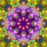 Digital Painting Abstract Colorful Floral Mandala Background royalty free stock photo