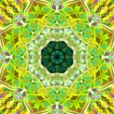 Digital Painting Abstract Colorful Floral Mandala Background royalty free stock image