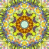Digital Painting Abstract Colorful Floral Mandala Background royalty free stock photography