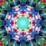 Digital Painting Abstract Colorful Floral Mandala Background stock images
