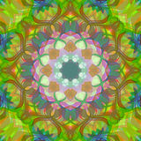 Digital Painting Beautiful Abstract Colorful Floral Mandala Background Stock Photo
