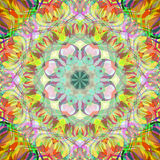 Digital Painting Beautiful Abstract Colorful Floral Mandala Background Royalty Free Stock Photo