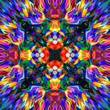 Digital Painting Beautiful Abstract Colorful Floral Mandala Background Stock Photography