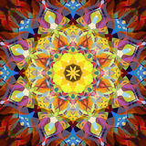 Digital Painting Beautiful Abstract Colorful Floral Mandala Background Royalty Free Stock Photography