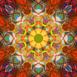 Digital Painting Beautiful Abstract Colorful Floral Mandala Background Royalty Free Stock Images