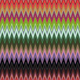 Digital Painting Beautiful Abstract Colorful Wavy Triangular Zigzag Texture Layer Pattern Background. Abstract Colorful Zigzag Texture Pattern in Multi-Colors Royalty Free Stock Photo