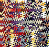 Digital Painting Beautiful Abstract Colorful Wavy Triangular Zigzag Texture Layer Pattern Background Stock Photo
