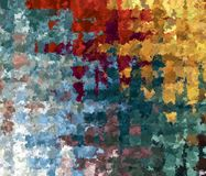 Digital Painting Beautiful Abstract Multi-Color Chaotic Gingham Check Pattern Background. Digital Painting Beautiful Abstract Multi-Color Water Color Paint Stock Image