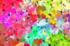 Digital Painting Beautiful Abstract Colorful Flower Fields Background. Digital Painting Beautiful Abstract Multi-Color Water Color Paint Colorful Flower Fields Stock Images