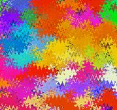 Digital Painting Chaotic Spatter Paint Abstract Wavy Triangular Patterns in Colorful Vibrant Bright Colors Background. Digital Painting Beautiful Water Color royalty free illustration