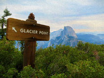 Digital Painting - Clacier Point - Half Dome Stock Images