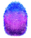 Digital painting fingerprints design. With isolated background Royalty Free Stock Photo