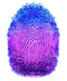 Digital painting fingerprints design Royalty Free Stock Photo