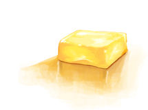 Digital painting illustration of yellow yummy butter. Digital illustration of yellow yummy butter Royalty Free Stock Photos