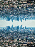 Digital Painting - Los Angeles Skyline Royalty Free Stock Photo