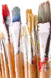 Digital Painting of Paint Brushes. Digital Painting of colorful Paint Brushes vector illustration