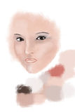 Digital painting in process Royalty Free Stock Photos
