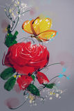 Digital Painting the Roses Red Royalty Free Stock Photos
