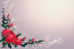 Digital Painting the Roses Red Royalty Free Stock Photography