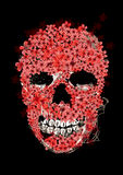 Digital painting skull Royalty Free Stock Images