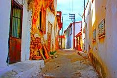 Digital painting of a Turkish village street Stock Photo