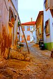Digital painting of a Turkish village street Royalty Free Stock Image