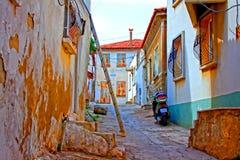 Digital painting of a Turkish village street Royalty Free Stock Image