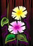 Digital painting of two flowers. Royalty Free Stock Image