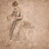 Regency Era - Jane Austen Inspired - Vintage Damask - Digital Paper Background - Roses - Pride & Prejudice. This digital paper background pairs a lovely Regency royalty free illustration