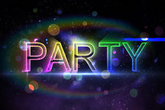 Digital party text Royalty Free Stock Photos