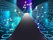 Digital Path Represents Hi Tech And Computer Royalty Free Stock Photography