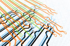 Digital Paths. In Multiple Layers Stock Photo