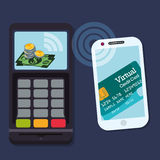 Digital payment design. Royalty Free Stock Image