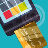 Digital payment design. Royalty Free Stock Photo