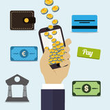 Digital payment design. Royalty Free Stock Photography
