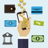 Digital payment design. royalty free illustration