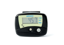 Digital Pedometer. On a white background Stock Images
